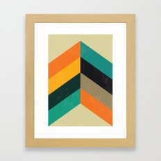 Mid Century Chevron Art Framed Art Print