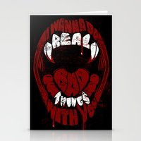 Real Bad Things Stationery Cards