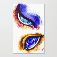 alien eyes Canvas Print