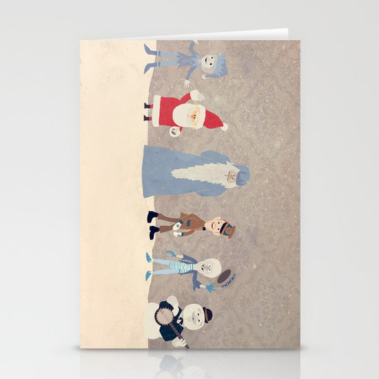 Claymation Lineup  Stationery Card