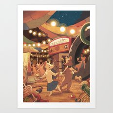 Saturday Night at the Junkpile Art Print