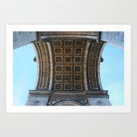 Arc de Triomphe, Paris, France Art Print