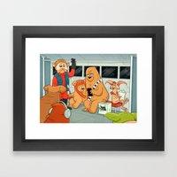 Space Bus Framed Art Print