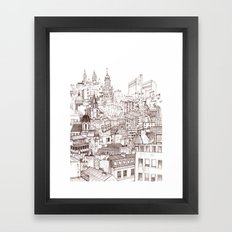 Paris roofscape Framed Art Print