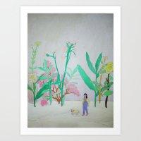 I'm Lost In Your Garden … Art Print