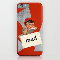 iPhone & iPod Case featuring mad by Errin Ironside