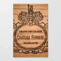 French wine box Canvas Print