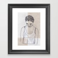 Patchwork Portrait: Kati… Framed Art Print