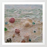 Treasures of Beach Combing Art Print