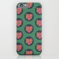 iPhone & iPod Case featuring Rosa [green spots] by Veronica Galbraith