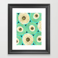 Cleopatra Tribal Medallion Gold Turquoise Framed Art Print
