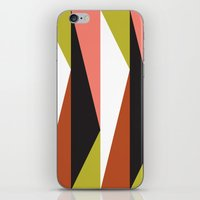 Pink, lime black triangle pattern (2015) iPhone & iPod Skin