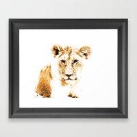 Animals Of The Rainbow Lion Framed Art Print