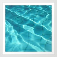 Water / Swimming Pool (Water Abstract) Art Print