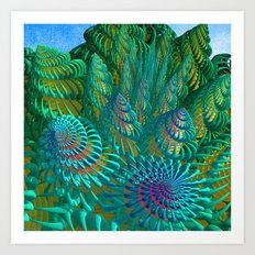 3D seashells artwork Art Print
