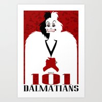 101 Dalmatians (Movie Po… Art Print