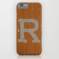 iPhone & iPod Case featuring Winter clothes. Letter R. by Studio Caravan