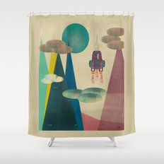 life on mars Shower Curtain