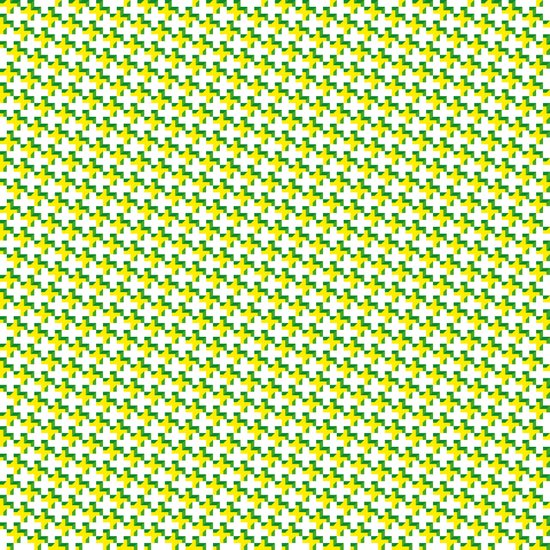 So cross… yellow. Art Print