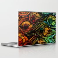 feathers Laptop & iPad Skins featuring Feathers by S.G. DeCarlo