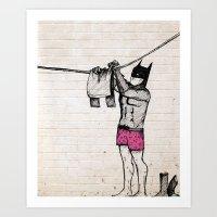 Batman's Laundry Art Print