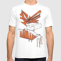 How High Can Deer Jump Mens Fitted Tee White SMALL