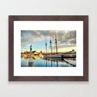 Tole Mour & Rainbow Harbor Framed Art Print
