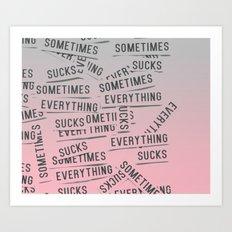 mmm Art Print