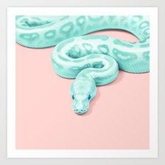 Snake Green Art Print