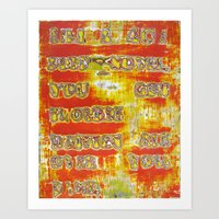 Pickup Lines - Pulp Fict… Art Print