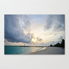 Sunset Maldives Canvas Print
