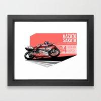 Kazuto Sakata - 1994 Eas… Framed Art Print