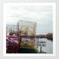 Crab pots at rest Art Print