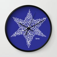 David's Star Wall Clock