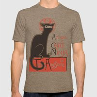 A French Ninja Cat (Le C… Mens Fitted Tee Tri-Coffee SMALL