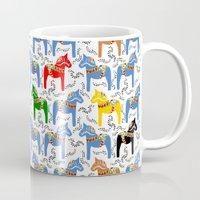 Dala Horse pattern Mug