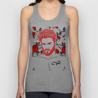 Red & Roses Unisex Tank Top