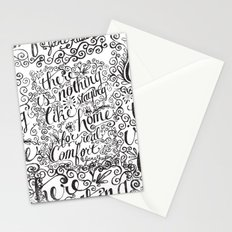 there is nothing like staying home... Stationery Cards