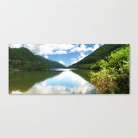 Cibin Lake, the Carpathians (Romania) Canvas Print