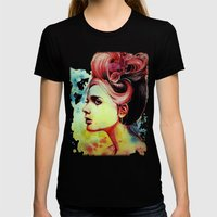 Crimson Womens Fitted Tee Black SMALL