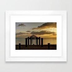 Brighton West Pier Framed Art Print