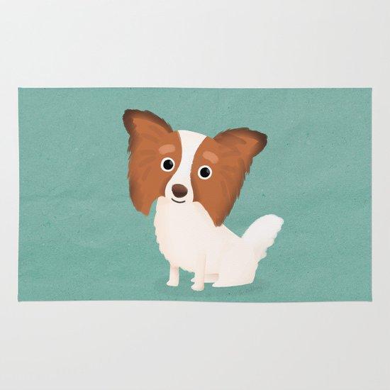 Papillon - Cute Dog Series Area & Throw Rug