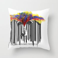 unzip the colour code Throw Pillow