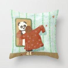 Bamboo (Bambouseraie) Throw Pillow