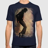 MJ Mens Fitted Tee Navy SMALL
