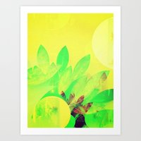 Tropical Sun Drops heat Art Print