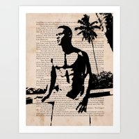 With a Wanton Hand Art Print
