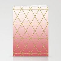 Rose Gold Geometric Stationery Cards