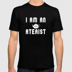 Ateaist Mens Fitted Tee Black SMALL