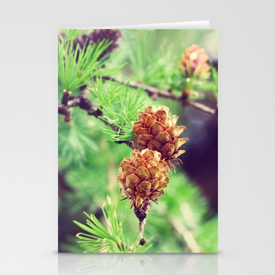 Pinecones Stationery Card